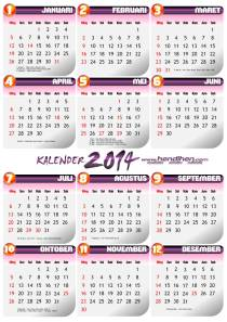 Kalender 2014 gratis download format PDF & CDR