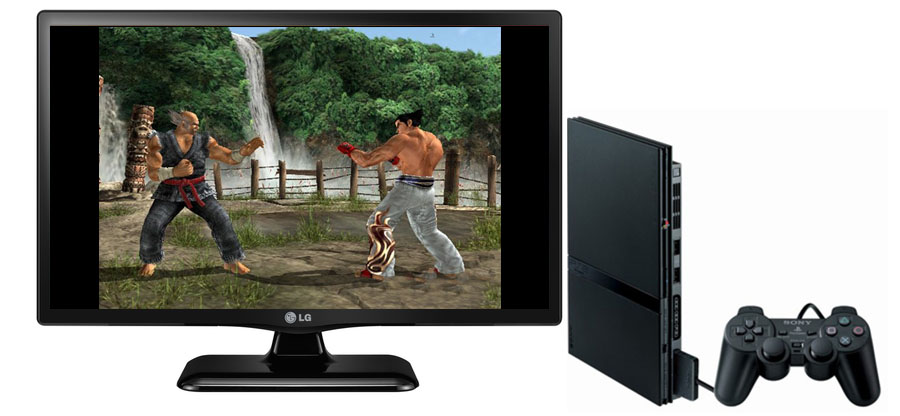 Meningkatkan Kualitas Gambar Playstation 2 PS2 Di TV LED