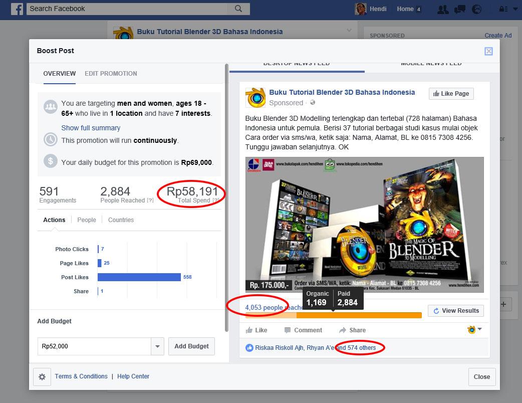 cara bayar iklan facebook ads via atm