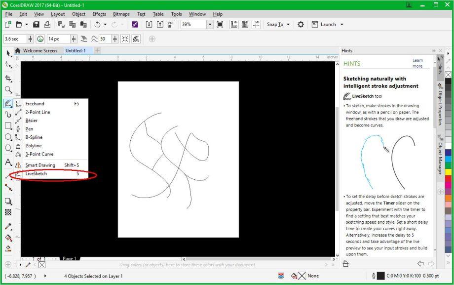 Coreldraw 2017 Live Sketch