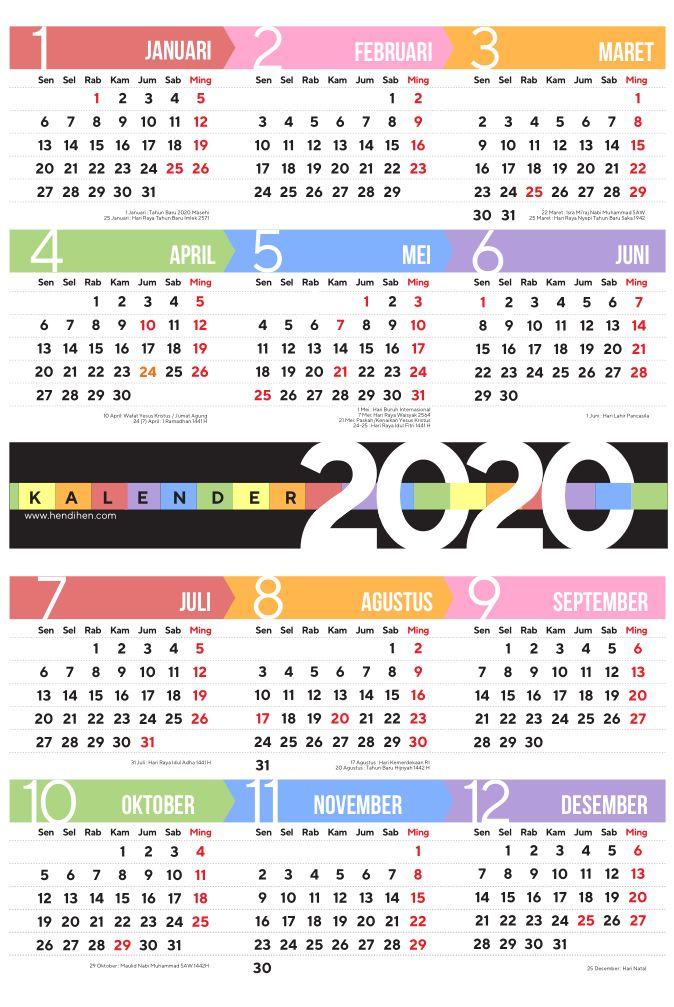 Kalender 2020 A3 Plus